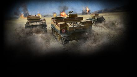 Back tanks sparks world of el alamein Wallpaper