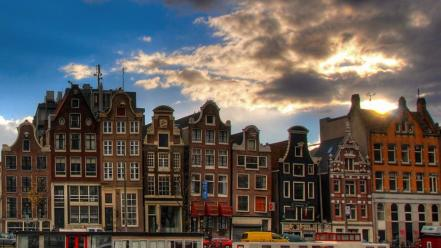 Cityscapes holland amsterdam view wallpaper