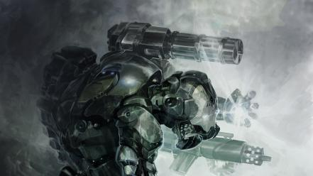 Iron man futuristic war machine artwork wallpaper