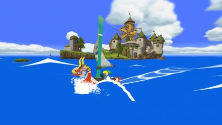 Legend of zelda: wind waker windfall island wallpaper