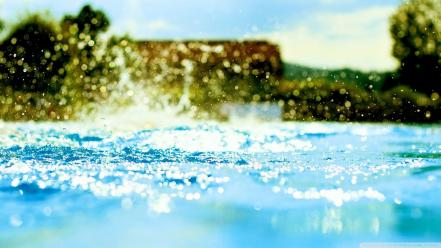 Water nature summer bokeh splashes wallpaper
