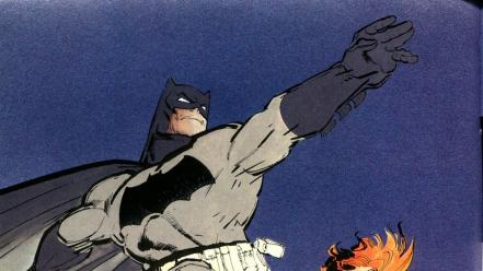 Artwork the dark knight returns frank miller wallpaper