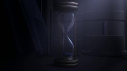 Black sand hourglass steins;gate hour glass time badquality Wallpaper