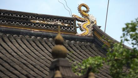 Figure china asian architecture roof wallpaper