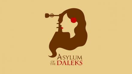Minimalistic doctor who asylum daleks wallpaper