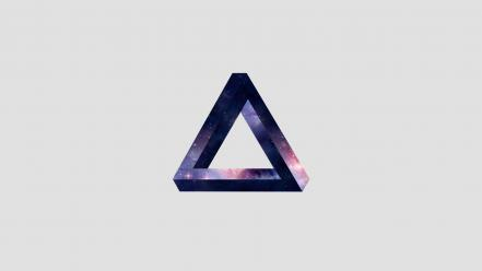 Minimalistic galaxies penrose triangle Wallpaper