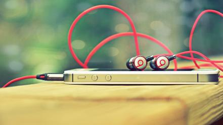 Music iphone earphones beats by dr.dre wallpaper