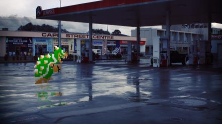 Nintendo mario bowser gas station wallpaper