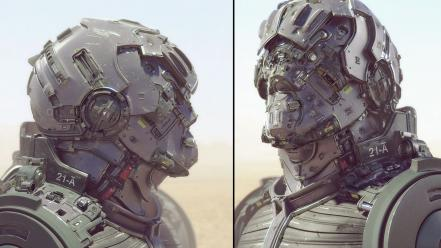 Robots futuristic mech concept art future soldier Wallpaper