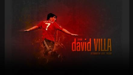 Soccer spain david villa football player wallpaper