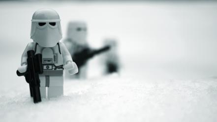 Star wars snow legos snowtroopers toys wallpaper