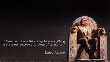 Writers engraving isaac asimov with glasses thrones wallpaper