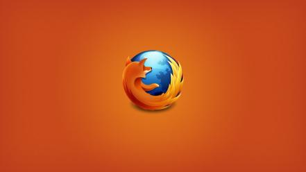 Firefox mozilla orange background web browser Wallpaper