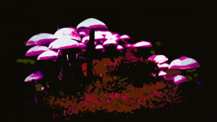 Mushrooms psychedelic trippy shrooms wallpaper