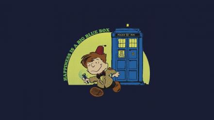 Tardis peanuts happiness doctor who boxes big blue wallpaper