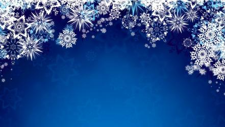 Blue snowflakes graphic art background wallpaper