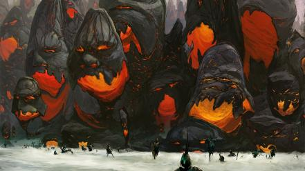 Gathering fog artwork magma anthony scott waters wallpaper
