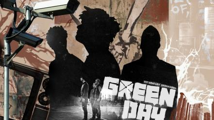 Music silhouette green day graffiti rock artwork bands wallpaper