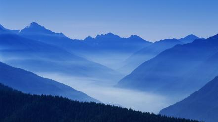 Valley national park washington foggy wallpaper