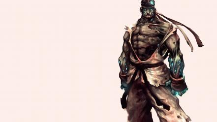 Zombies street fighter animation simple background game wallpaper
