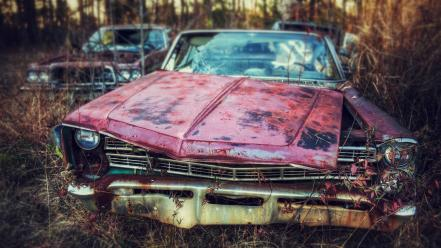 Cars wrecks wallpaper