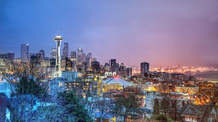 Cityscapes seattle citylights wallpaper