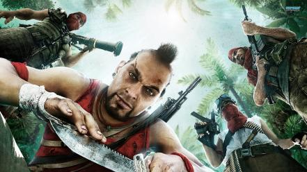 Guns jungle knives far cry 3 wallpaper