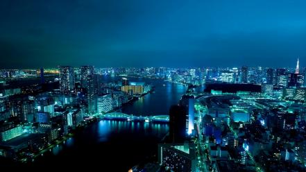Japan tokyo cityscapes towers citylights wallpaper