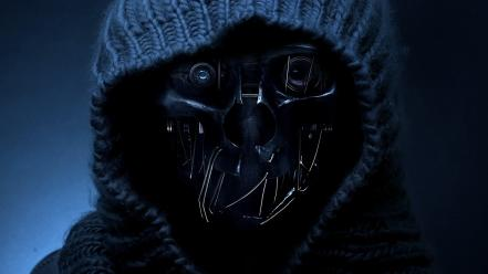 Metal masks wool apocalyptic dishonored hood wallpaper
