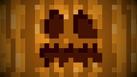 Pixels minecraft sprites pumpkins Wallpaper