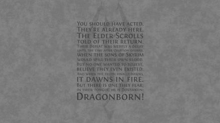 Video games quotes the elder scrolls v: skyrim wallpaper