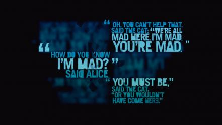 Alice in wonderland typography far cry 3 wallpaper