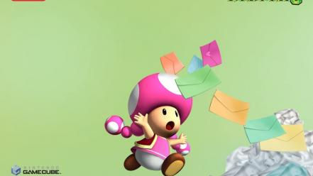 Nintendo gamecube mail mario party toadette wallpaper