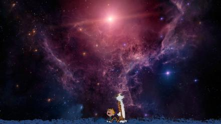 Outer space calvin and hobbes wallpaper