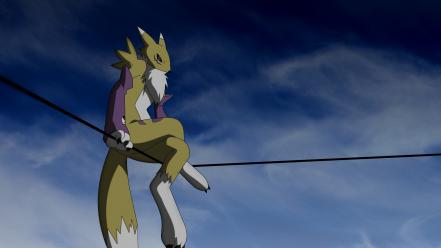 Renamon anthropomorphism furry wallpaper