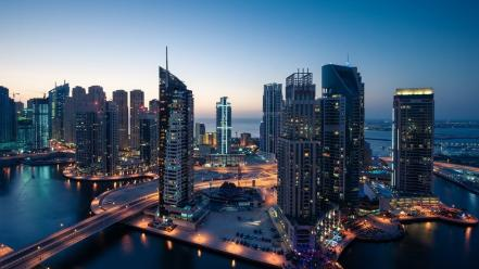 Buildings dubai middle east marina view wallpaper
