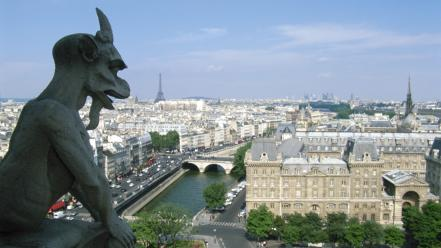 Cityscapes architecture day europe gargoyles wallpaper