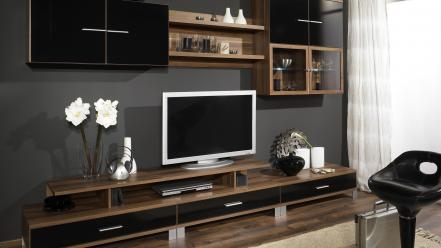 Tv interior wallpaper