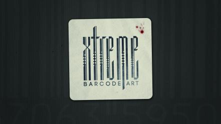 Typography barcode Wallpaper