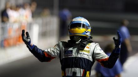 Cars formula one fernando alonso renault driver Wallpaper