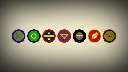 Minimalistic dc comics justice league symbols wallpaper