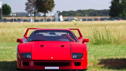 Outdoors red cars ferrari f40 wallpaper