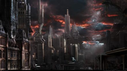 Ruins post-apocalyptic destruction cities wallpaper
