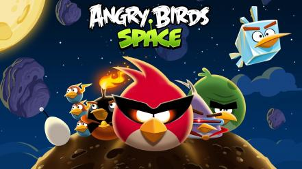 Video games angry birds space wallpaper