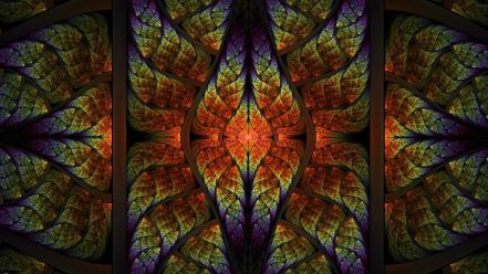 Abstract multicolor fractals psychedelic artwork symmetry wallpaper