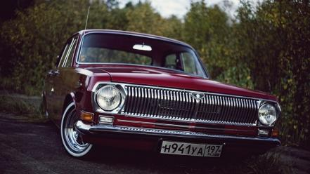 Cars engines drive chrome old gaz volga russian wallpaper