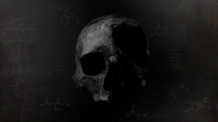 Death dark gray chemistry background chemicals blackboard Wallpaper