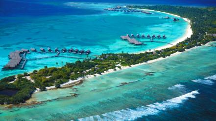 Landscapes nature maldives islands spa resort wallpaper