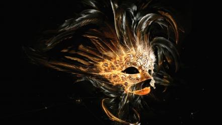 Masks digital art artwork wallpaper