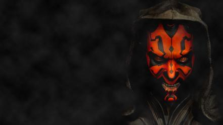 Maul sith spikes cloak fangs hood evil wallpaper